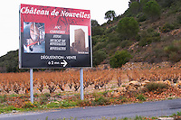 AOC Corbieres, Fitou, Muscat de Rivesaltes, tasting and sales. Chateau de Nouvelles. Fitou. Languedoc. The vineyard. France. Europe.