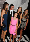 HOLLYWOOD, CA - AUGUST 15: Sylvester Stallone, Jennifer Flavin and daugthers Sophia, Sistin and Scarlet arrive at the 'The Expendables 2' - Los Angeles Premiere at Grauman's Chinese Theatre on August 15, 2012 in Hollywood, California.