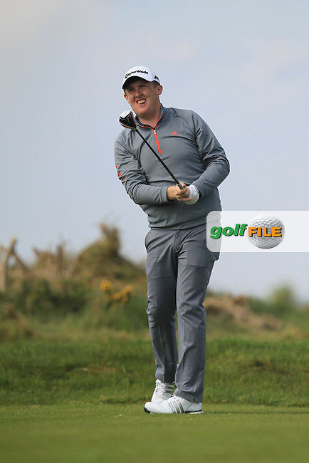 Jamie Savage (SCO) on the 8th tee during Round 4 of the Flogas Irish Amateur Open Championship at Royal Dublin on Sunday 8th May 2016.<br /> Picture:  Thos Caffrey / www.golffile.ie