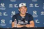 Masahiro Tanaka (Yankees),<br /> FEBRUARY 18, 2016 - MLB :<br /> Masahiro Tanaka of the New York Yankees attends a press conference ahead of the New York Yankees spring training baseball camp at George M. Steinbrenner Field in Tampa, Florida, United States. (Photo by Thomas Anderson/AFLO) (JAPANESE NEWSPAPER OUT)