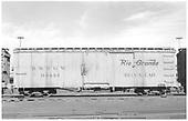 Block car 04444 at Alamosa.<br /> D&amp;RGW  Alamosa, CO  Taken by Richardson, Robert W. - 1/18/1958