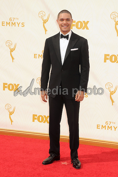 20 September 2015 - Los Angeles, California - Trevor Noah. 67th Annual Primetime Emmy Awards - Arrivals held at Microsoft Theater. Photo Credit: Byron Purvis/AdMedia