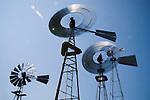Downey Well Company windmill collection, Merna, Nebraska:..Woodmanse, Baker Monitor, Aermotor, Dempster, F&W Star Zepher