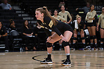 Caroline Wolf (7) of the Wake Forest Demon Deacons during the match against the USC Upstate Spartans in the LJVM Coliseum on September 9, 2017 in Winston-Salem, North Carolina.  The Demon Deacons defeated the Spartans 3-2.   (Brian Westerholt/Sports On Film)