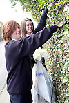 Jane Finnegan and Amy Finegan ,Sacred Heart doing a clean up of the area around their school...Photo NEWSFILE/Jenny Matthews.(Photo credit should read Jenny Matthews/NEWSFILE)....This Picture has been sent you under the condtions enclosed by:.Newsfile Ltd..The Studio,.Millmount Abbey,.Drogheda,.Co Meath..Ireland..Tel: +353(0)41-9871240.Fax: +353(0)41-9871260.GSM: +353(0)86-2500958.email: pictures@newsfile.ie.www.newsfile.ie.FTP: 193.120.102.198.