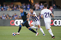 SAN JOSE, CA - JULY 16: Luis Felipe #96 of the San Jose Earthquakes during a friendly match between the San Jose Earthquakes and Real Valladolid on July 16, 2019 at Avaya Stadium in San Jose, California.