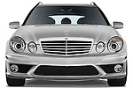 Straight front view of a 2009 Mercedes E63 AMG Wagon