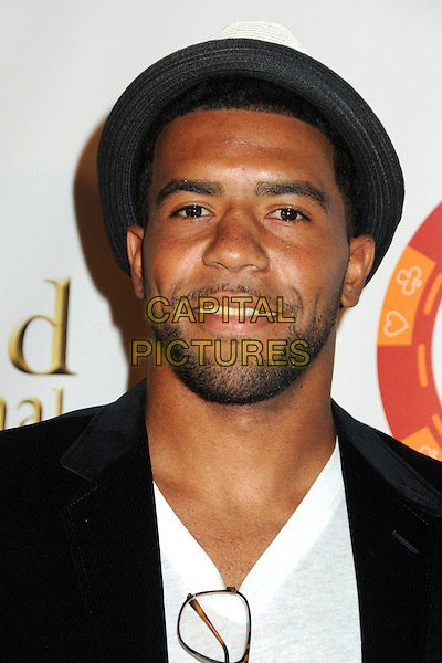 THOMAS DeCOUD.4th Annual Sports Dream Celebrity Poker and Pool Party Celebrating the 2010 ESPY Awards held at the Playboy Mansion, Beverly Hills, California, USA..July 12th, 2010.headshot portrait black  white hat beard facial hair .CAP/ADM/BP.©Byron Purvis/AdMedia/Capital Pictures.