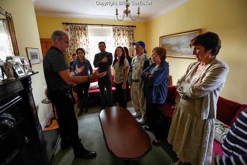 Seamus Caulfield give a tour of the Caulfield home where he grew up in Granlahan, County Roscommon, Ireland on Tuesday, June 25th 2013. (Photo by Brian Garfinkel)