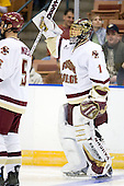 Cory Schneider (Boston College - Marblehead, MA) - The Boston College Eagles defeated the Miami University Redhawks 4-0 in the 2007 NCAA Northeast Regional Final on Sunday, March 25, 2007 at the Verizon Wireless Arena in Manchester, New Hampshire.