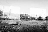 Die Ruinen der Nitratfabrik von Laç, Nordalbanien. Symbol für die Deindustrialisierung während des chaotischen postkommunistischen Wandels.