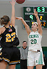 Lilly Kolodinsky #20 of Seaford, right, shoots a jumper as Julianna Kissane #22 of Wantagh contests her shot during a non-league varsity girls basketball game at Seaford High School on Friday, Dec. 29, 2017. Seaford won in wire-to-wire fashion by a score of 65-56.