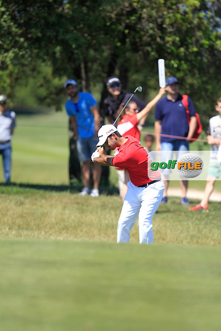 Jorge Campillo (ESP) on the 16th fairway during Round 4 of the Open de Espana  in Club de Golf el Prat, Barcelona on Sunday 17th May 2015.<br /> Picture:  Thos Caffrey / www.golffile.ie
