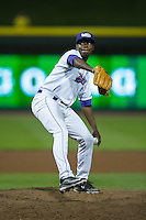 Winston-Salem Dash relief pitcher Andre Wheeler (11) in action against the Myrtle Beach Pelicans at BB&T Ballpark on April 19, 2016 in Winston-Salem, North Carolina.  The Dash defeated the Pelicans 6-5.  (Brian Westerholt/Four Seam Images)