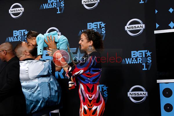 DJ Khaled, Asahd Tuck Khaled, Nicole Tuck<br /> at the BET Awards 2017, Microsoft Theater, Los Angeles, CA 06-25-17<br /> David Edwards/DailyCeleb.com 818-249-4998