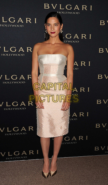 WEST HOLLYWOOD, CA- FEBRUARY 25: Actress Olivia Munn arrives at the BVLGARI 'Decades Of Glamour' Oscar Party Hosted By Naomi Watts at Soho House on February 25, 2014 in West Hollywood, California.<br /> CAP/JOR<br /> &copy;Nils Jorgensen/Capital Pictures