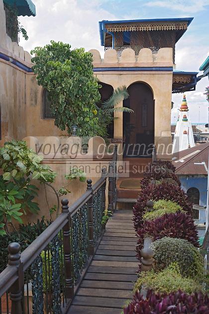 Afrique/Afrique de l'Est/Tanzanie/Zanzibar/Ile Unguja/Stone Town: Hotel Emerson&Green dans une ancienne demeure de l'empire Swahili
