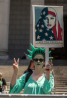 NEW YORK JUNE 10: Muslim supporters confront Trump supporters during an anti-sharia law rally organized by ACT for America on June 10, 2017 at Foley square in New York. Photo by VIEWpress/Maite H. Mateo.