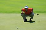 Niclas Fasth (SWE) lines up his putt on the 5th green during Day 3 of the BMW Italian Open at Royal Park I Roveri, Turin, Italy, 11th June 2011 (Photo Eoin Clarke/Golffile 2011)