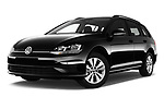 Stock pictures of low aggressive front three quarter view of 2017 Volkswagen Golf-Variant Trend-Line 5 Door Wagon Low Aggressive