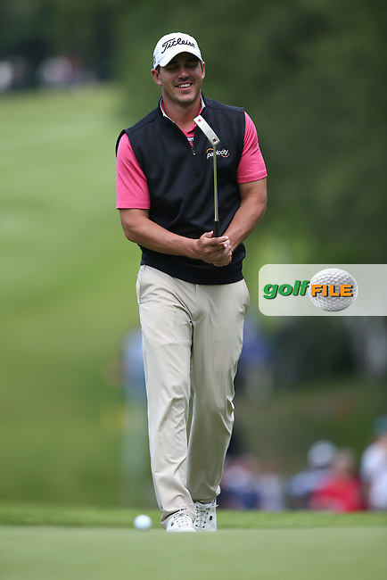 Brooks Koepka (USA) makes birdie on the 4th during Round Three of the 2015 BMW PGA Championship over the West Course at Wentworth, Virginia Water, London. 23/05/2015. Picture David Lloyd | www.golffile.ie.