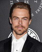 SANTA MONICA, CA - JANUARY 06: Dancer Derek Hough arrives at the The Art Of Elysium's 11th Annual Celebration - Heaven at Barker Hangar on January 6, 2018 in Santa Monica, California.<br /> CAP/ROT/TM<br /> &copy;TM/ROT/Capital Pictures