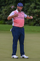 Jon Rahm (ESP) reacts to barely missing his birdie putt on 12 during round 2 of the 2019 Tour Championship, East Lake Golf Course, Atlanta, Georgia, USA. 8/23/2019.<br /> Picture Ken Murray / Golffile.ie<br /> <br /> All photo usage must carry mandatory copyright credit (© Golffile | Ken Murray)
