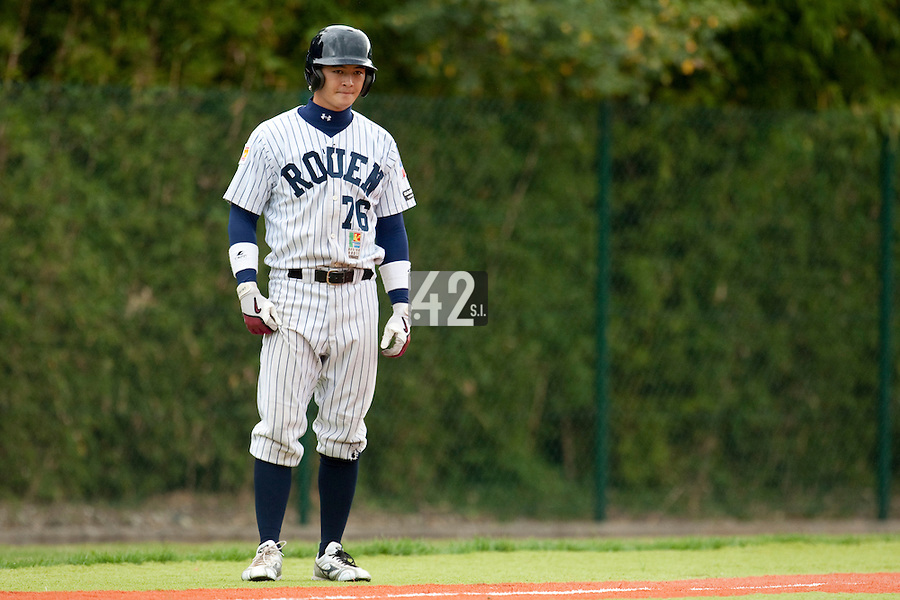 Baseball - French playoffs 2009 - Rouen (France) - 05/09/2009 - Rouen Huskies vs Savigny Lions.Kenji Hagiwara (Rouen)