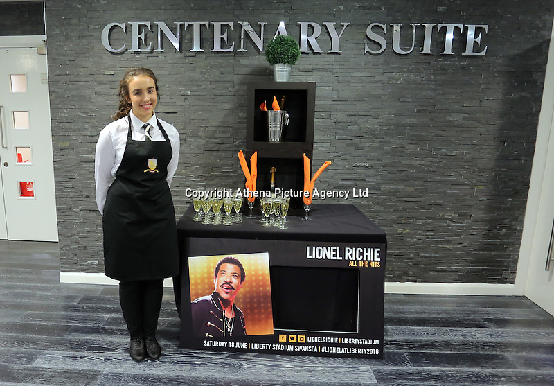 Pictured: Centenary suite Saturday 18 June 2016<br /> Re: Lionel Richie, All The Hits concert at the Liberty Stadium, Swansea, Wales, UK