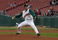 June 4, 2004:  Pitcher Kazuhito Tadano of the Buffalo Bisons, International League (AAA) affiliate of the Cleveland Indians, during a game at Dunn Tire Park in Buffalo, NY.  Photo by:  Mike Janes/Four Seam Images