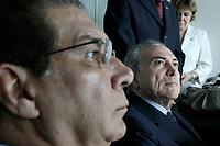 PA - CONGRESSO/CIDADES AMAZÔNICAS - POLÍTICA -jader barbalho e  O presidente da Câmara dos Deputados, Michel Temer I Congresso das Cidades Amazônicas, no Hangar Centro de Convenções, na cidade de Belém do Pará, nesta quinta-feira.