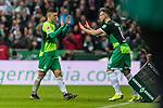 10.02.2019, Weserstadion, Bremen, GER, 1.FBL, Werder Bremen vs FC Augsburg<br /> <br /> DFL REGULATIONS PROHIBIT ANY USE OF PHOTOGRAPHS AS IMAGE SEQUENCES AND/OR QUASI-VIDEO.<br /> <br /> im Bild / picture shows<br /> Spielerwechsel Werder Bremen, Einwechslung Kevin M&ouml;hwald / Moehwald (Werder Bremen #06), Auswechslung Milot Rashica (Werder Bremen #11) verletzungsbedingt, <br /> <br /> Foto &copy; nordphoto / Ewert