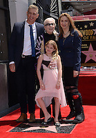 Barbara Bain + daughter Susan + husband + grand daughter Aria @ Walk of Fame ceremony held @ 6767 Hollywood blvd.<br /> April 28, 2016