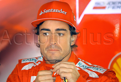 24.05.2012.Monte Carlo, Monaco.  Spanish Formula One driver Fernando Alonso of Ferrari prepares for the first practice session at the F1 race track of Monte Carlo, 24 May 2012. The Grand Prix will take place on 27 May.