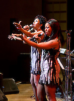The Pointer Sisters perform with the Dallas Symphony Orchestra at the Meyerson Symphony Center at 8:51PM in Dallas, Texas, Friday, April 18, 2008. The Pointer Sisters, originally from oakland, California,  are a Grammy Award winning R&B group.  ..MATT NAGER/SPECIAL CONTRIBUTER