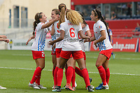 Bridgeview, IL - Saturday July 22, 2017: Christen Press, Chicago Red Stars during a regular season National Women's Soccer League (NWSL) match between the Chicago Red Stars and the Orlando Pride at Toyota Park. The Red Stars won 2-1.