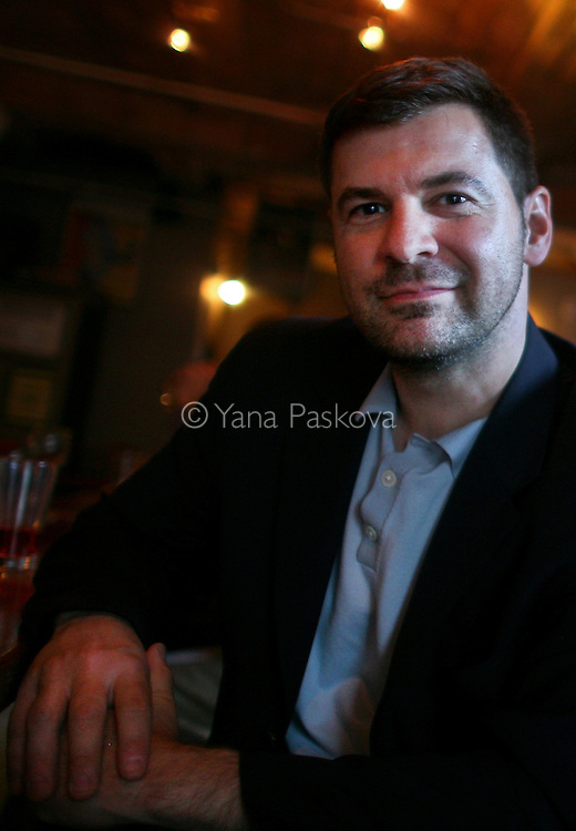 Chris Hondros at 68 Jay St. Bar in Brooklyn, New York, May 13, 2010...© Yana Paskova 2011