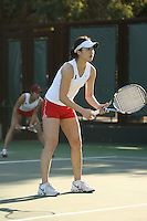 STANFORD, CA - JANUARY 30:  Veronica Li of the Stanford Cardinal during Stanford's 6-1 win over the Colorado Buffaloes in the ITA Indoor Qualifying on January 30, 2009 at the Taube Family Tennis Stadium in Stanford, California.