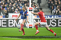 Morgan Parra of France during the NatWest Six Nations match between France and Wales on February 1, 2019 in Paris, France. (Photo by Anthony Dibon/Icon Sport)