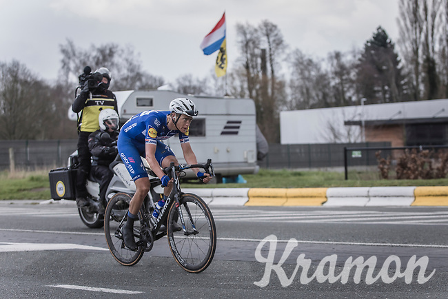 Flying Dutch man in Flanders Niki Terpstra (NED/Quick Step Floors) solo to the finish. <br /> <br /> <br /> 102nd Ronde van Vlaanderen 2018<br /> 1day race: Antwerp › Oudenaarde - BEL (265k)