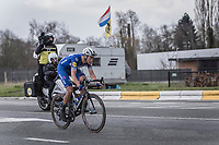 Flying Dutch man in Flanders Niki Terpstra (NED/Quick Step Floors) solo to the finish. <br /> <br /> <br /> 102nd Ronde van Vlaanderen 2018<br /> 1day race: Antwerp › Oudenaarde - BEL (265k)