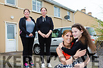 Grateful for good neighbors pictured front Anne Barry and her daughter Haley with neighbors Margaret Williamson & Michelle O'Sullivan.