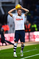 Preston North End's Tom Clarke takes a throw-in<br /> <br /> Photographer Richard Martin-Roberts/CameraSport<br /> <br /> The EFL Sky Bet Championship - Preston North End v Blackburn Rovers - Saturday 24th November 2018 - Deepdale Stadium - Preston<br /> <br /> World Copyright © 2018 CameraSport. All rights reserved. 43 Linden Ave. Countesthorpe. Leicester. England. LE8 5PG - Tel: +44 (0) 116 277 4147 - admin@camerasport.com - www.camerasport.com