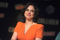 Fiona Dourif beim Panel zu 'Dirk Gently's Holistic Detective Agency / Dirk Gentlys holistische Detektei' auf der New York Comic Con 2017 im Javits Center. New York, 06.10.2017