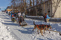 Joar Leifseth Ulsom on Cordova St. hill during the Anchorage start day of Iditarod 2018 on Cordova St. hill during the Anchorage start day of Iditarod 2019