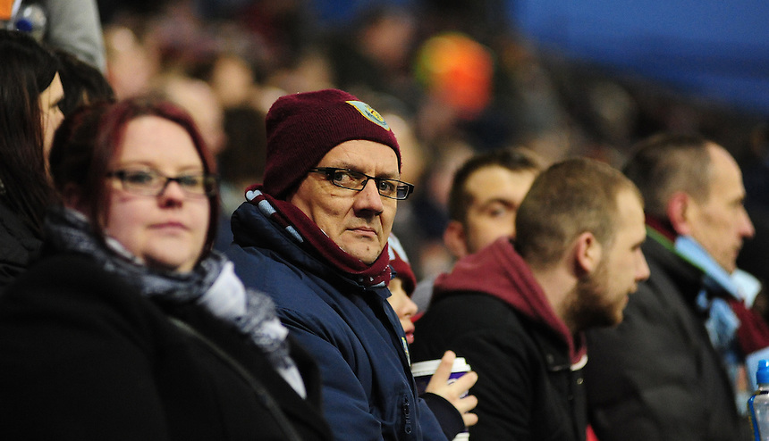 Burnley fans during the second half <br /> <br /> Photographer Chris Vaughan/CameraSport<br /> <br /> Football - Barclays Premiership - Burnley v Manchester City - Saturday 14th March 2015 - Turf Moor - Burnley<br /> <br /> &copy; CameraSport - 43 Linden Ave. Countesthorpe. Leicester. England. LE8 5PG - Tel: +44 (0) 116 277 4147 - admin@camerasport.com - www.camerasport.com