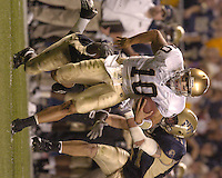 3 September 2005:  Brady Quinn (10)..Notre Dame defeated Pittsburgh 42-21 September 3, 2005 at Heinz Field in Pittsburgh, PA..