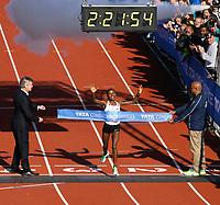 Nederland - Amsterdam - 2017 .  De Marathon van Amsterdam. Bij de vrouwen was de Ethiopische Tadelech Bekele de snelste vrouw in 2.21.54.   Foto mag niet in negatieve context gebruikt worden.    Foto Berlinda van Dam / Hollandse Hoogte