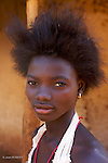 Ancoutoum village on Canabaque island.young Bijogo  woman.Village d Ancoutoum sur l ile de Canabaque.jeune femme bijogo.