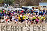 Ready for the water at the annual Connie Hartnett Memorial swim in Ballybunion on New Years Day.